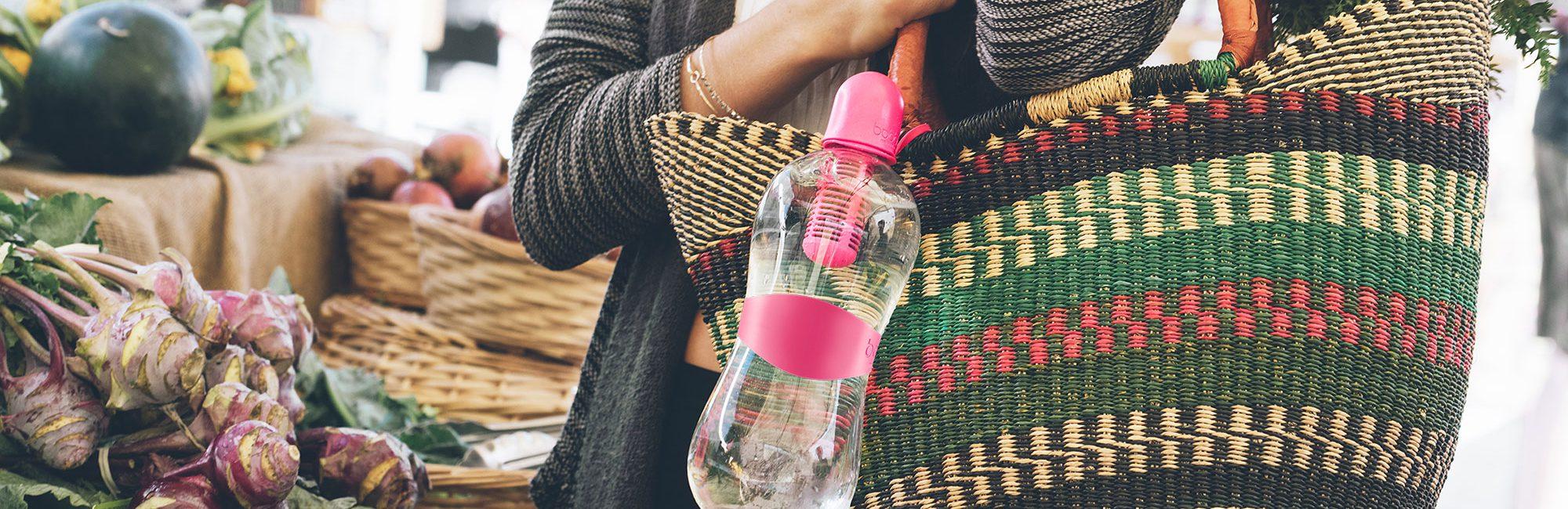 pink branded bobble bottle